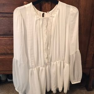 Free People Ivory Blouse